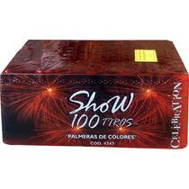 Torta 100 Tiros Fuegos Artificiales Show Listo Para Usar