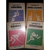 Lote 4 Reglamentos Atletismo Vóleibol Hóckey Pelota Al Cesto