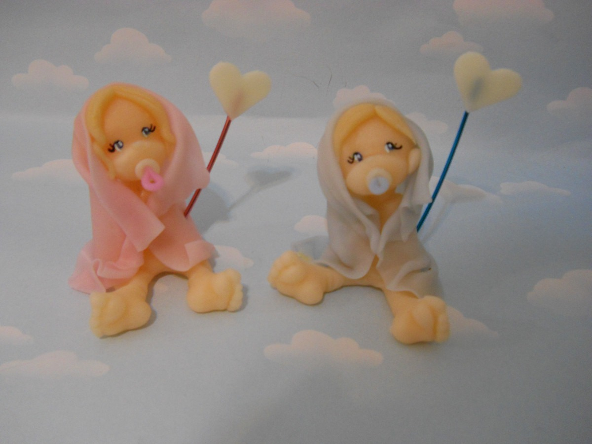10 Souvenirs Bebes En Porcelana Fria. Nacimiento. Bautismo ...