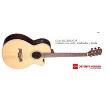 Guitarra Acústica C/eq La Alpujarra Jacarandá C/funda Acol