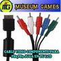 Cable Audio Y Video Componente 5 Rca Para Ps2 Y Ps3 Lcd
