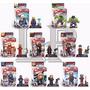 Avengers Mini Figuras X 8 Con Base + Accesorios+ Cards