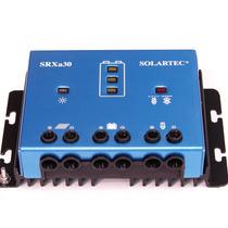 Regulador De Carga P/ Panel Solar 12v 24v 30ah Usb Solartec