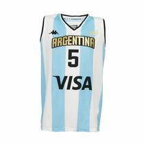 Camiseta Argentina Basquet Kappa Rio 2016+ Estampados