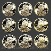 Robmar-lote De Cinco Monedas De 1 Dolar Sacagawea-oferta