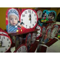 Reloj Souvenirs Personalizado Con Foto Y Nombre Corporeo
