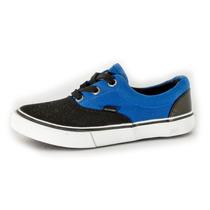 Zapatillas Davor Azules Y Negras De Lona Malaway Kids Niños