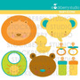 Kit Imprimible Animalitos Bebes 7 Imagenes Clipart