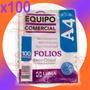 Folios A4 Polipropileno X100u Extra Cristal 11 Perforaciones