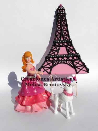 Barbie Moda Mágica En Paris 15 Cm + Mascota + Torre Eiffel (Adornos