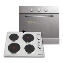 Combo Cocina Anafe + Horno Domec Empotrar Electrico Acero