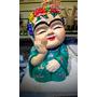 Buda Frida Khalo Pintado A Mano 20cm Grande