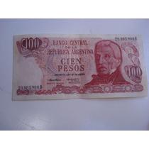 Billete De Cien Pesos Argentinos 20.805.908 B
