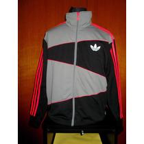 Campera Adidas 100% Original Negra Y Gris