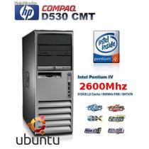 Pc Cpu Hp Intel 2.6ghz +hd+dvd+ Vga+ Audio+ Garantia!!