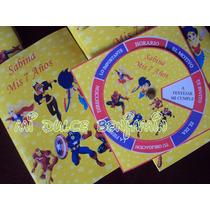 Tarjetas De Invitaciones Super Heroes