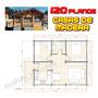 Planos Casas De Madera - Cabañas - 120 Planos