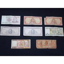 Lote De Billetes De Chile,peru Y Cuba Buen Estado General