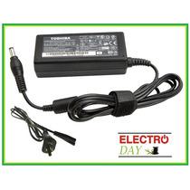 Cargador Notebook Toshiba Original 19v 3.42a 65w Cable Power