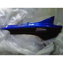Cacha Lateral Zanella Zb110 G4 Azul Con Negro Mate Derecho