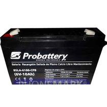 Bateria 6v 10 Amper De Gel P/ups, Jueguetes, Etc. Probattery