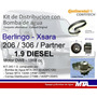 Kit De Distribución + Bomba Berlingo Partner 206 Diesel 1.9