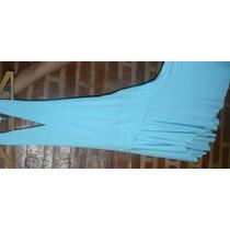 Vestido Dama Fiesta Celeste Talle 2 Usado Elegante