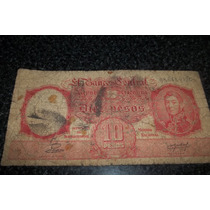 Billete 10 Pesos Moneda Nacional 1935 - Munro -