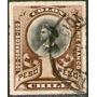 Chile Sello Usado Cristóbal Colón X 1 Peso Años 1878-99