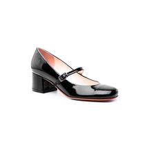 Zapato Guillermina Taco Medio Charol Negro #331 - Natacha