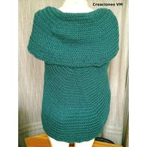 Chaleco Tejido A Crochet. Saco Circular De Lana Sedificada.