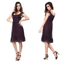 Vestido Corto Violeta Talles Hasta Gorditas Especiales