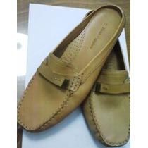 Zapatos Mocasines De Cuero Tipo Zueco, Hush Puppies N° 39