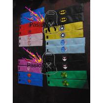 Muñequeras Super Heroes Batman,superman,araña,barbie Unicas