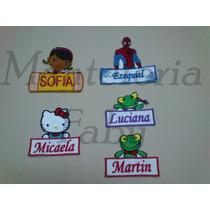 Parches Infantiles Con Nombre,en Forma De Etiquetas Bordados