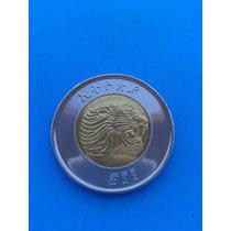 Moneda Bimetalica De Etiopía Año 2012