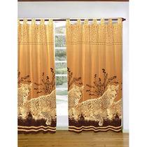 Juego Cortinas 2 Paños Estampada Tigres Animal Print