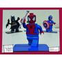 Souvenir Personalizado Madera 10cm Spiderman Araña Lego Hero