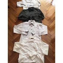 Combo 4 Camisas De Algodón 3 Blanca Y 1 Negra Liquidaciónliq