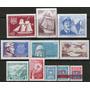 Chile 11 Sellos Nuevos Barcos = Antártida Años 1968-73