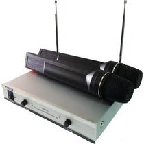 Par De Microfonos Inalambricos!!! Profesional, Wireless Vhf