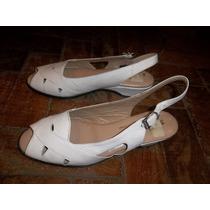 Zapatos San Crispino Blanco Señora.36. Con 2 Usos.