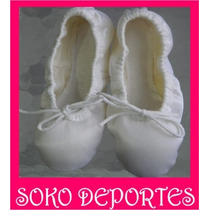 Zapatillas Badanas Danza Ballet 1/2 Punta Blanco Negro Rosa