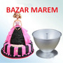 Molde Torta Pollera Vestido Muñeca Princesa Barbie 19cm Faca