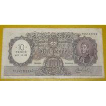 Billete Argentina Coleccion $1000 Mn Resello Cbio Pesos Ley