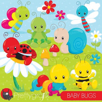 Kit Imprimible Baby Bugs 16 Clipart Jpg - Png *promo*