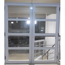 Porton Puerta Doble Aluminio Repartido Horizontal 160 X 200