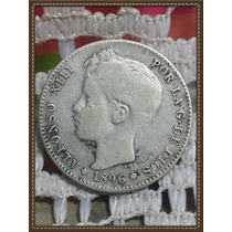 Moneda España 1 Peseta 1896 Madrid Ref P6/34