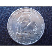 U. S. A. - Monte Rushmore, Moneda De 25 Centavos, Año 2013