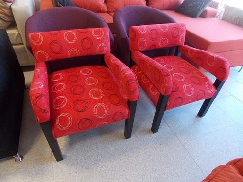 Sillon de un cuerpo con brazos tapizado en telas lisas - Precios de tapizados de sillones ...